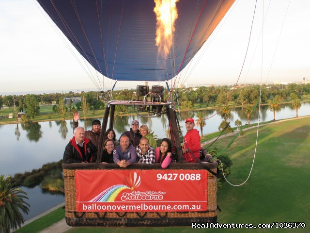 - Hot air ballooning over Melbourne