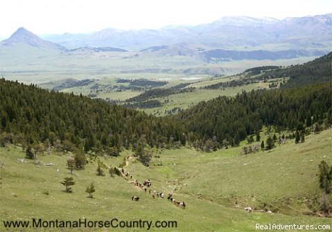 Wide open country.... - Horseback adventures in Montana