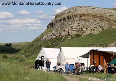 In camp.... - Horseback adventures in Montana