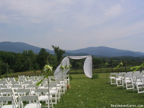 Dramatic View from Wedding Field at Montfair - Nature, Comfort & Simplicity, Virginia Cottages