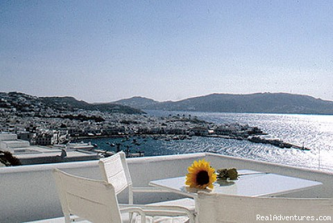 Magnifiscent view of Mykonos town - Marina View Studio Apartments
