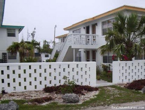 Riviera Villas is an apartment complex offering 2 bedroom apartments. It is located on the south shore of the island on Lucaya Beach.  This condo is newly/fully furnished.  Each unit has access to a common outdoor picnic area.  Yard area is semi-priv