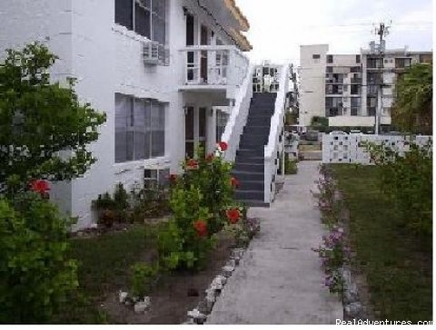 Inside Semi-Private Courtyard - Freeport Condo Beach Rental