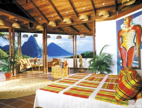 A PREMIUM ROOM AT ANSE CHASTANET - St.Lucia's Romantic Honeymoon Adventure Hideaway