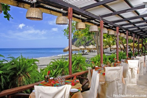 Trou au Diable Beach Restaurant - St.Lucia's Romantic Honeymoon Adventure Hideaway