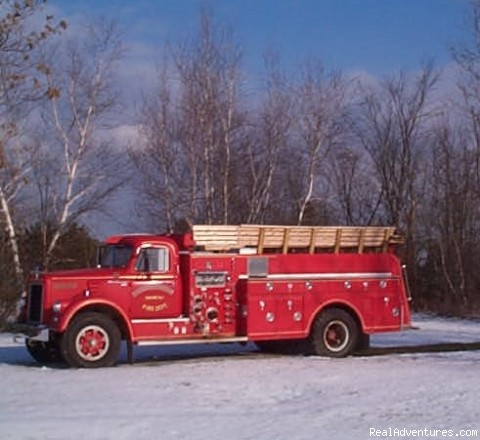 Fire Truck -  Rides - Family Camping, Cabin Rental, RV Full Hook up