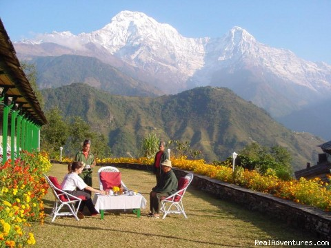A view in Annapaurna from Sarankot - Cheap and relaiable Adventure with See-Nepal Trave