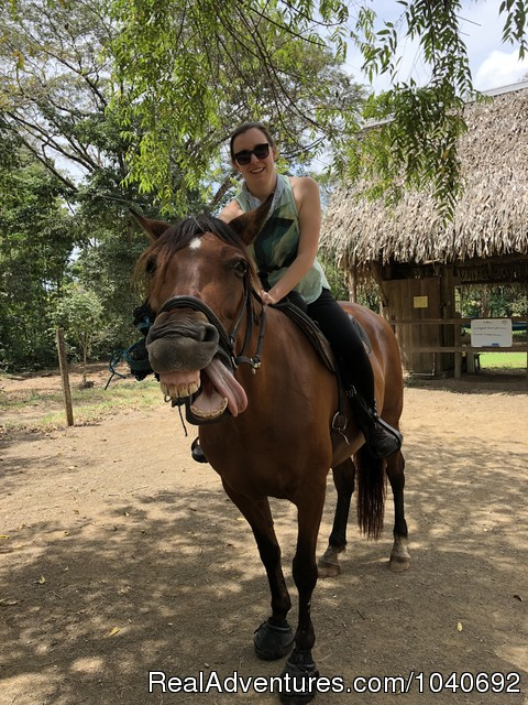 First time riders feeling it out - Horseback riding Jaco with Discovery Horse Tours