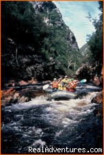 Grade 2 rapid - Water by Nature Tasmania - Franklin River Rafting