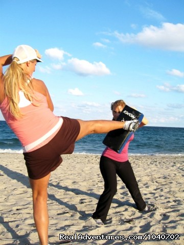 Kickbox on the beach! - Weight Loss Camp & Fitness Retreat