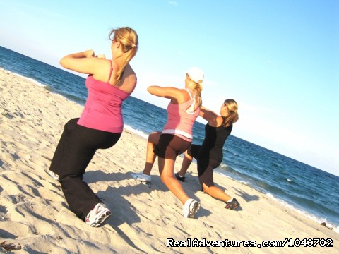 Lunges on the Beach - Fitness Vacation & Weight Loss Camp