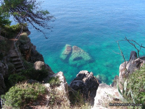 Crystal clear Adriatic - island of Kolocep - Elaphite Islands & Dubrovnik Walking Tour