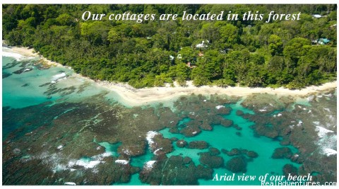 Arial View - Aguas Claras Beach Cottages