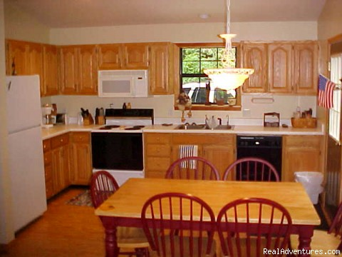 Kitchen & Dining Area - Cabin Fever..Nantahala Hot Tub Hideaway