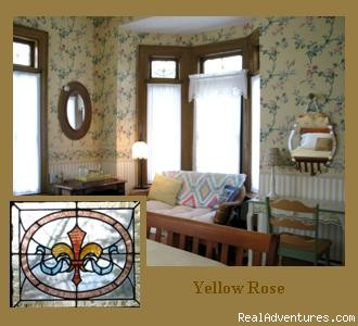 Yellow Rose Room - Finger Lakes vacations begins at Barrister's B&B