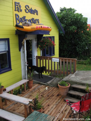 Front Deck - Cheap and Groovy Hostel in Uptown Port Alberni