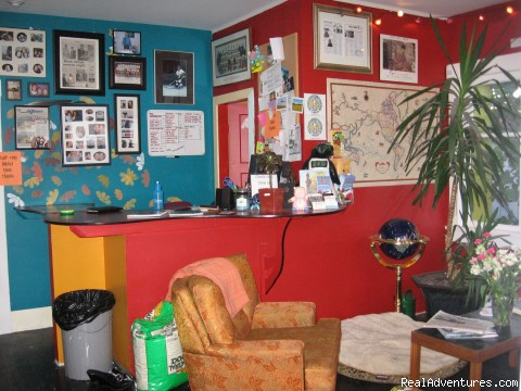 Reception - Cheap and Groovy Hostel in Uptown Port Alberni