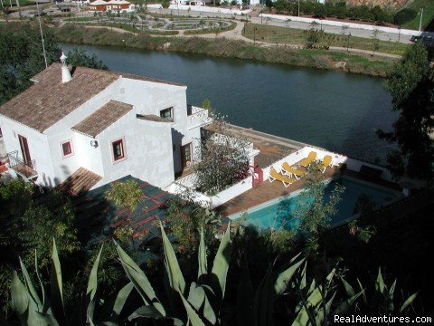 Warm and witty fun and funky. An off-beat but deliciously relaxing place to stay, offering guests 5 ensuit bed rooms, a bar and a seawatter pool, close to the center of Tavira.