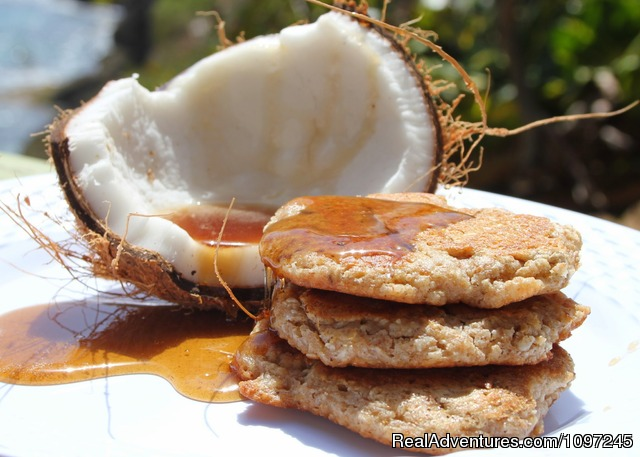 Wow Whole Grain Coconut Pancakes - Back to Eden Strawberry Fields Together Jamaica
