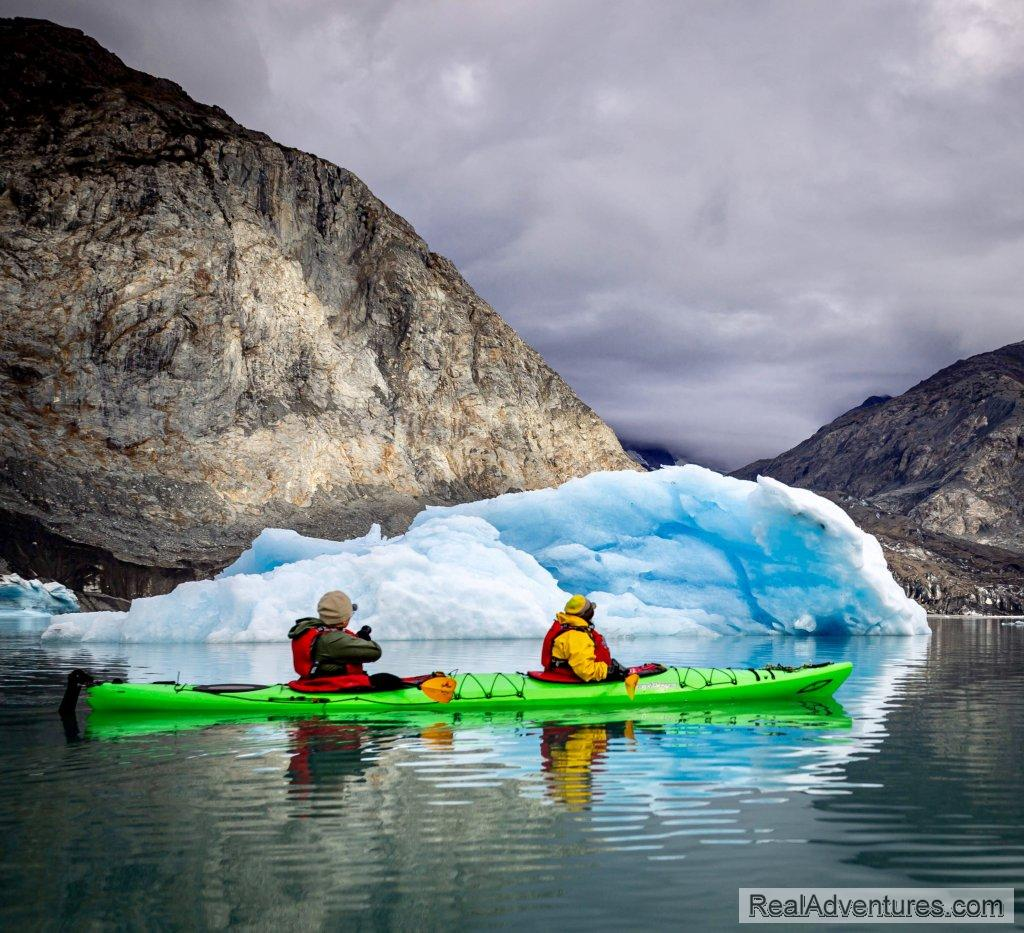 Sea kayak, camp, and hike Alaska's most spectacular wilderness; Prince William Sound. Paddle a rich fjord ecosystem with tidal glaciers, sea caves and abundant wildlife.  Hike in rain forests. No Experience necessary. In Valdez since 1989.