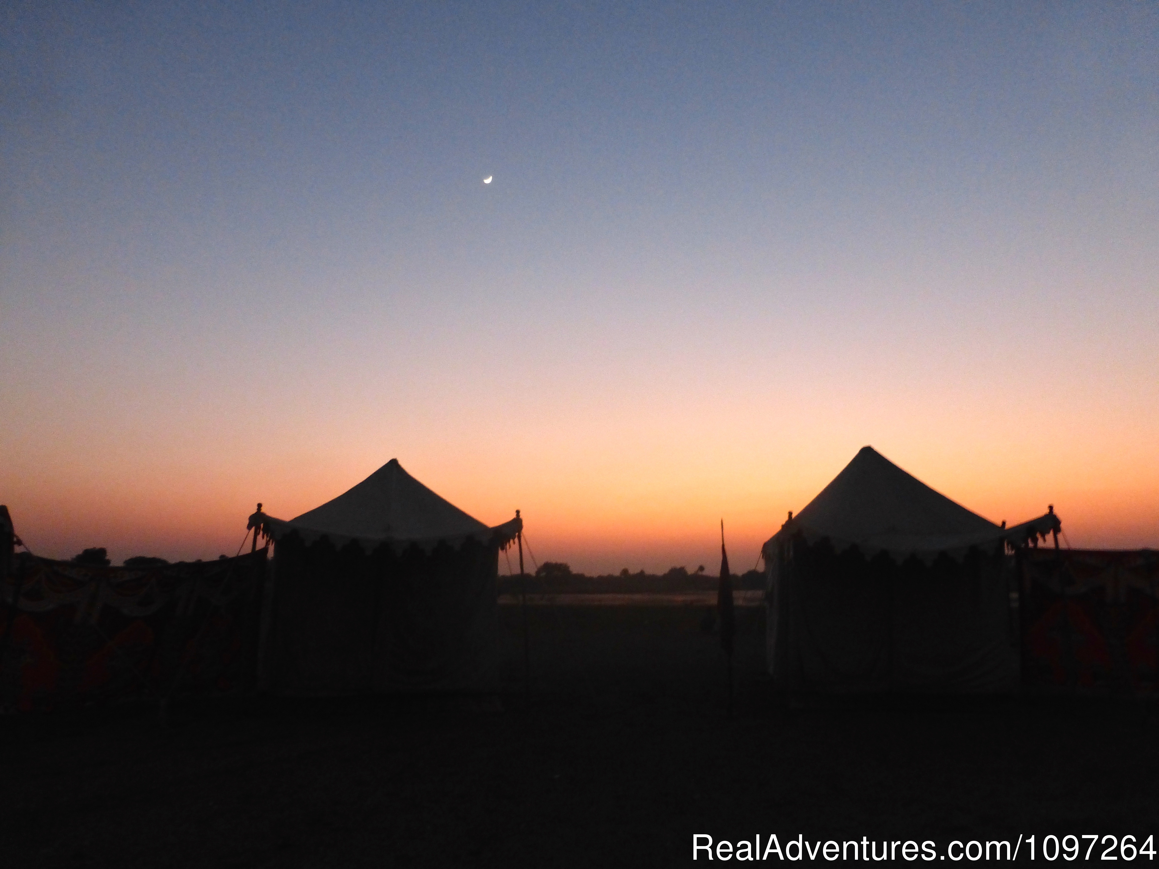Nightfall in our safari camp