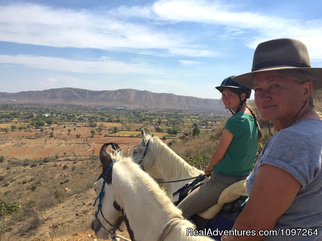 Riding over the Pushkar Camel Market - Horsebacksafaris on Marwari Horses in Rajasthan