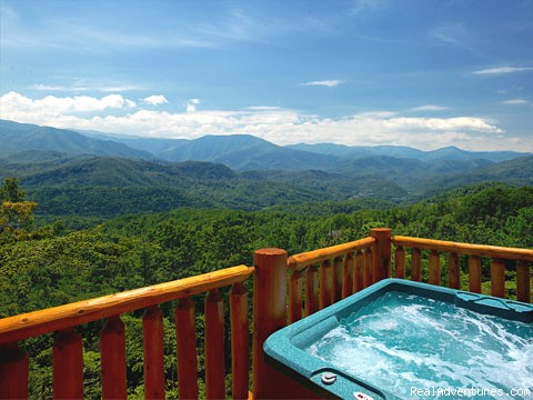 Hot Tub View - Pigeon Forge Cabin Rentals with Majestic Views