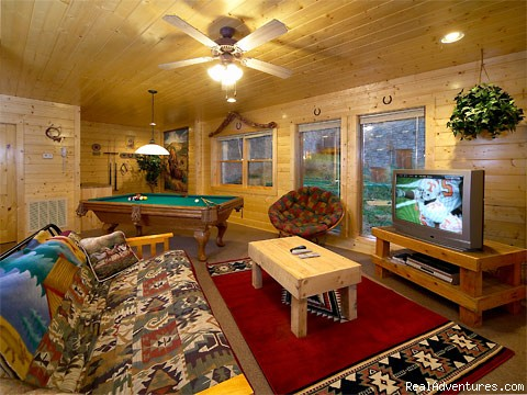 Game Room of Cabin in Pigeon Forge (#4 of 4) - Pigeon Forge Cabin Rentals with Majestic Views