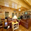 Pigeon Forge Cabin Rentals with Majestic Views Luxury Furnished Living Room