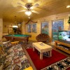Pigeon Forge Cabin Rentals with Majestic Views Game Room of Cabin in Pigeon Forge