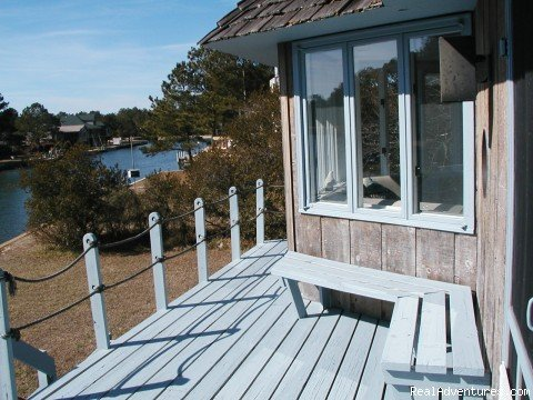 One of Three Decks overlooking the Water | Image #7/13 | Spinnaker Chincoteague Waterfront Vacation House -