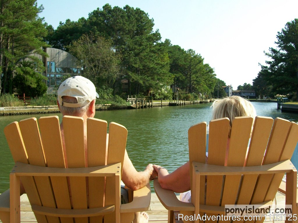 Getting some sun on deck | Image #10/13 | Spinnaker Chincoteague Waterfront Vacation House -