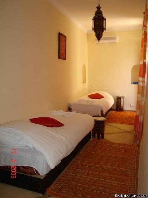 twin room - chambre | Image #3/3 | Charming guest house in Marrakech - MOROCCO
