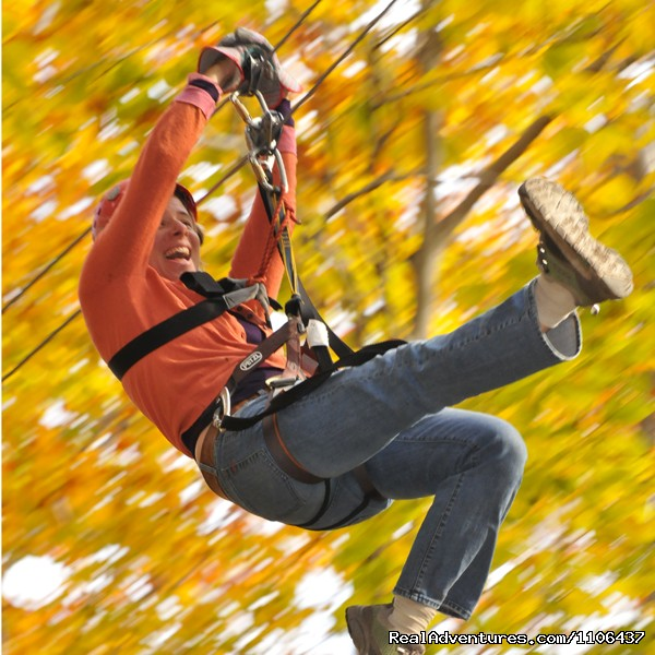 Zipping during the fall colors