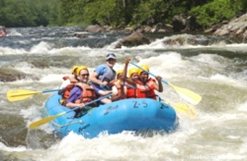 Whitewater rafting on Zoar Gap
