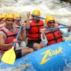 Group whitewater raft trips