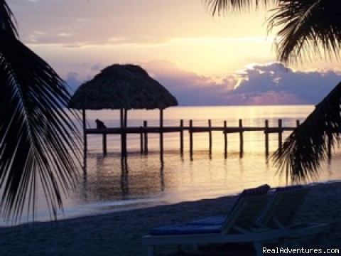 Romantic Almond Beach Belize: Dawn at the beach