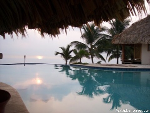 View across Infinity pool - Romantic Almond Beach Belize
