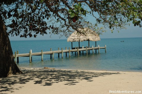 View towards the dock - Romantic Almond Beach Belize