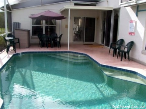 Florida Near Disney World a Lovely 3 Bd Pool Home: Front view