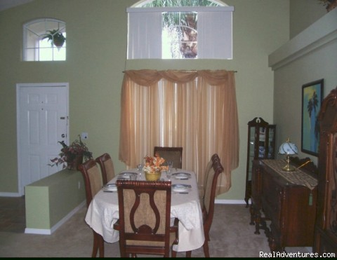 Dining Room - Florida Near Disney World a Lovely 3 Bd Pool Home
