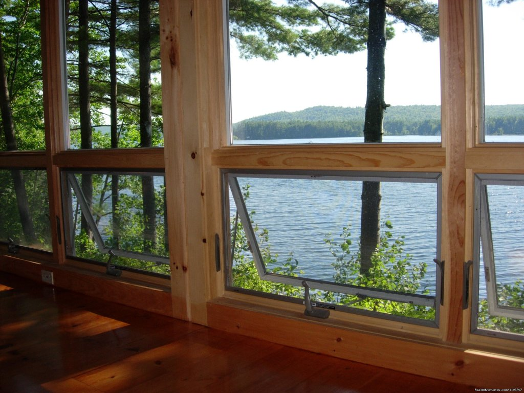 View from Window in great room | Image #3/14 | Quiet Waterfront Thompson Lake, ME