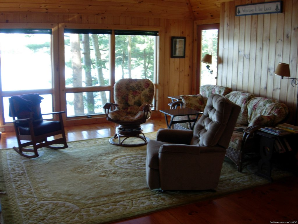Great Room | Image #4/14 | Quiet Waterfront Thompson Lake, ME