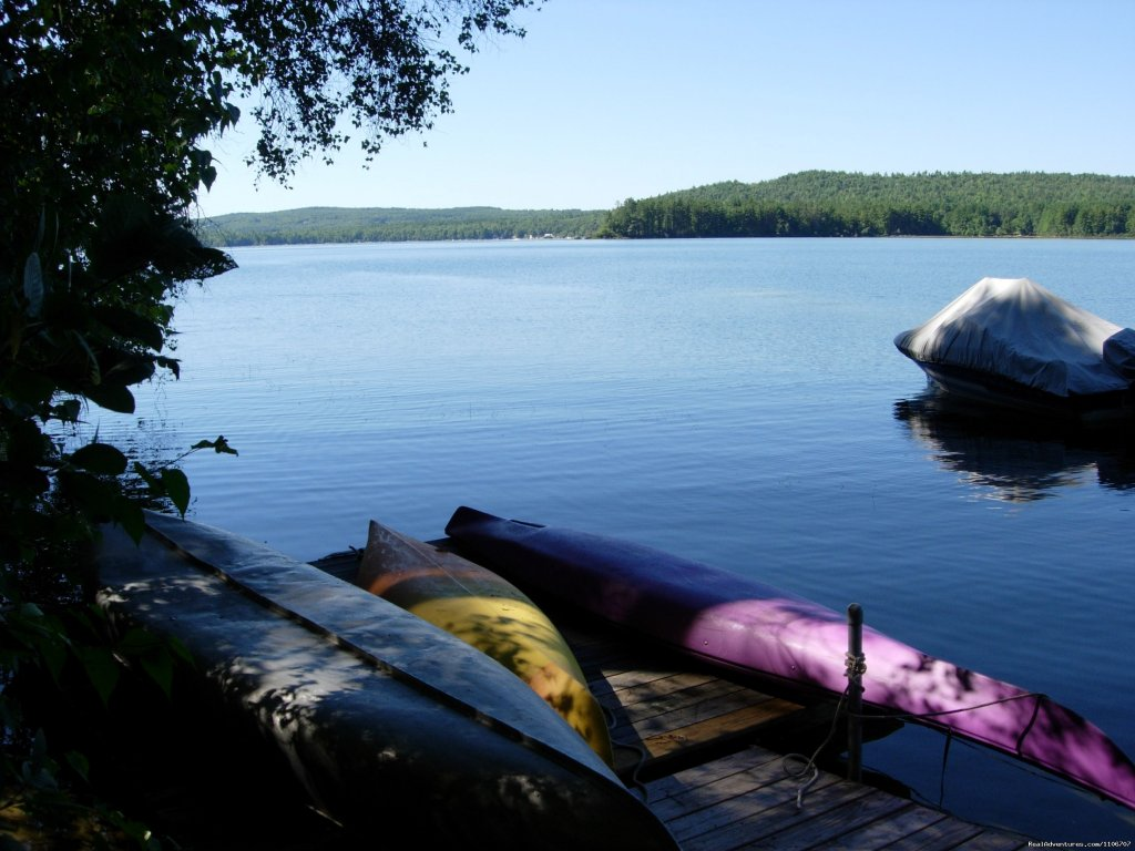 Kayaks and canoe | Image #6/14 | Quiet Waterfront Thompson Lake, ME