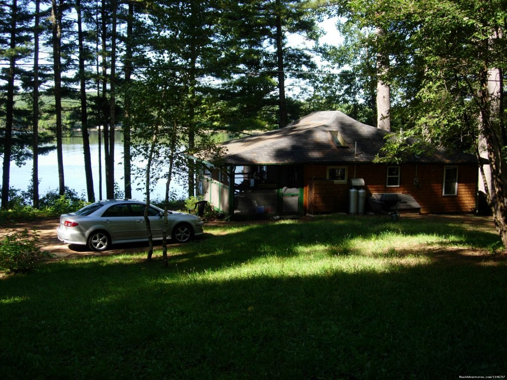 View from beginning of the driveway | Image #10/14 | Quiet Waterfront Thompson Lake, ME