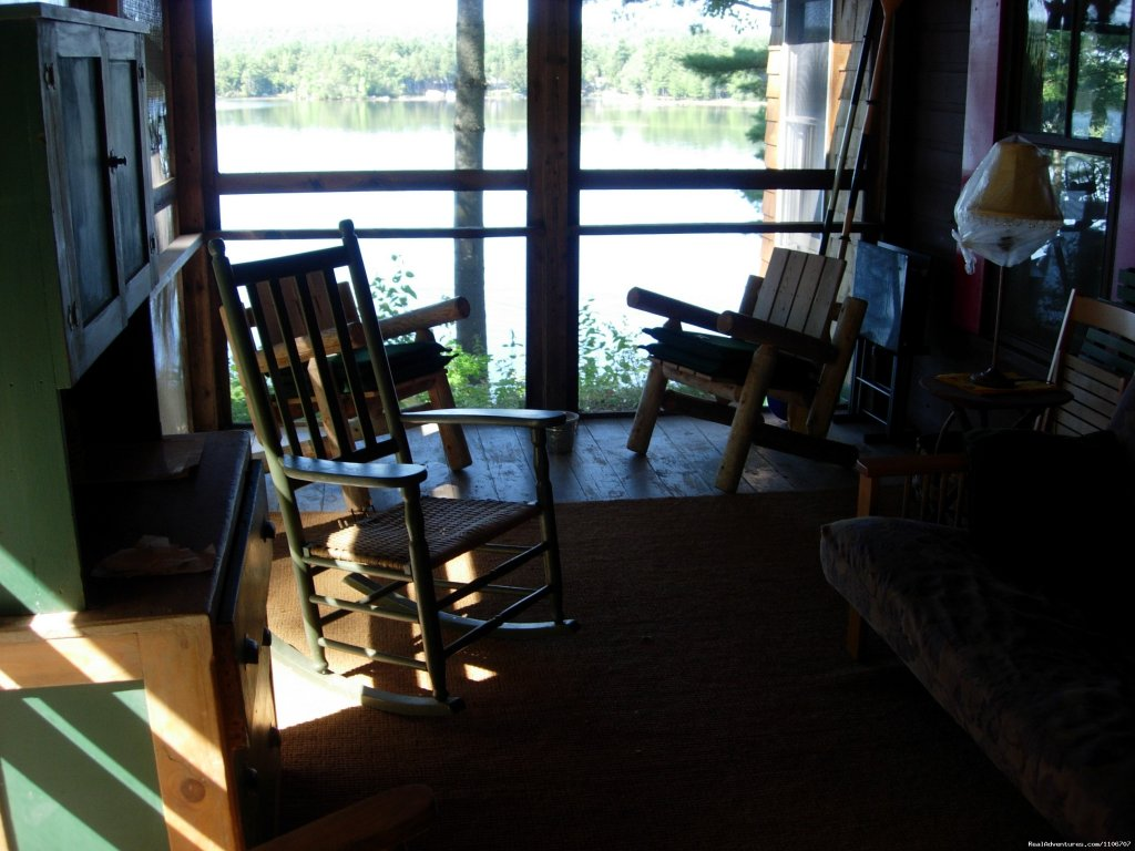 Maine porch | Image #8/14 | Quiet Waterfront Thompson Lake, ME
