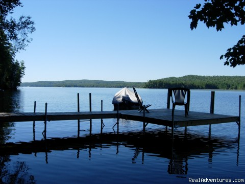Quiet Waterfront Thompson Lake, ME Vacation Rentals Maine