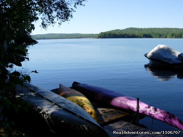 Kayaks and canoe - Quiet Waterfront Thompson Lake, ME