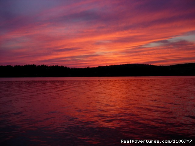 Sunset - Quiet Waterfront Thompson Lake, ME