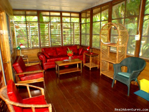Cottage Living Room - Nirvana On The Beach, Negril Jamaica